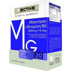 Ambitas F Ective Μαγνήσιο 300 mg + Βιταμίνη Β6 30 ταμπλέτες
