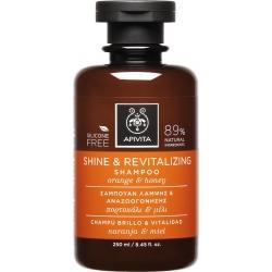 Apivita Shine & Revitalizing Shampoo με Πορτοκάλι & Μέλι 250ml
