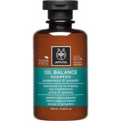 Apivita Oil Balance Σαμπουάν Ρύθμισης Λιπαρότητας με Μέντα & Πρόπολη 250ml