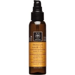 Apivita Rescue Hair Oil Nourishing & Repairing Argan & Olive 100ml