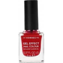 Korres Gel Effect Nail Colour 51 Rosy Red 11ml
