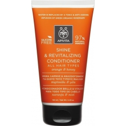 Apivita Shine & Revitalizing Conditioner All Hair Types Πορτοκάλι & Μέλι 150ml