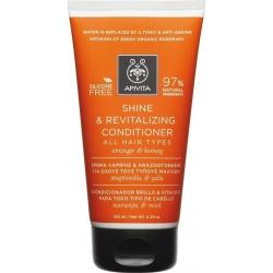 Apivita Shine & Revitalizing Conditioner All Hair Types Πορτοκάλι & Μέλι 150ml