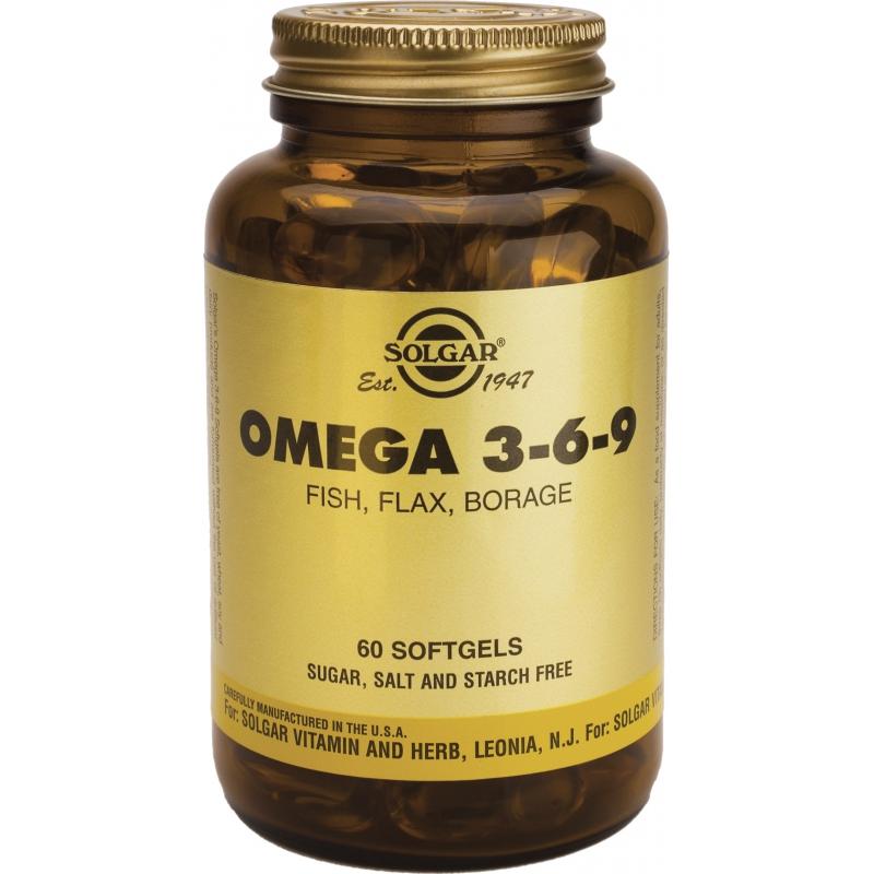 Solgar Omega 3 - 6 - 9 60 μαλακές κάψουλες