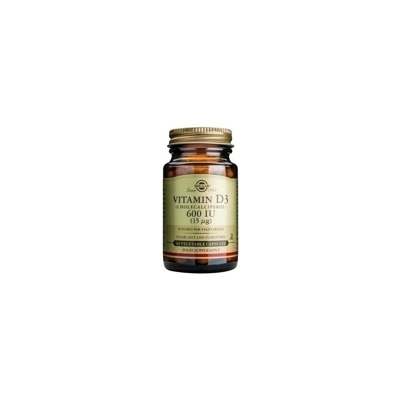 Solgar Vitamin D3 600iu 60 φυτικές κάψουλες