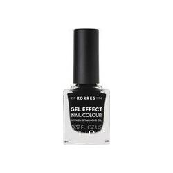 Korres Gel Effect Nail Colour 100 Black 11ml