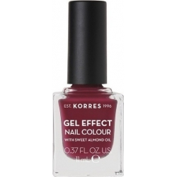 Korres Gel Effect Nail Colour 74 Berry Addict 11ml