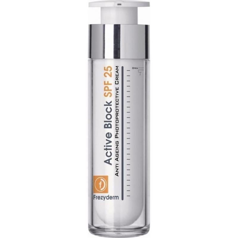 Frezyderm Active Block Αντιγηραντική & Ενυδατική κρέμα ημέρας με SPF25 50 ml