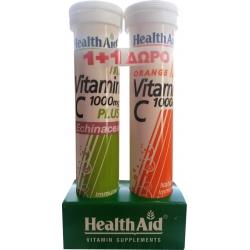 HealthAid Vitamin C 1000mg Plus Echinacea + Vitamin C 1000mg 20+20 αναβράζοντα δισκία