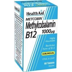 Health Aid Methylcobalamin Metcobin B12 1000mg 60 ταμπλέτες