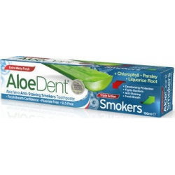 Optima Aloe Dent Triple Action Smokers 100ml