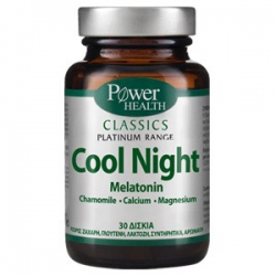 Power Health Platinum Cool Night Melatonin 30 κάψουλες