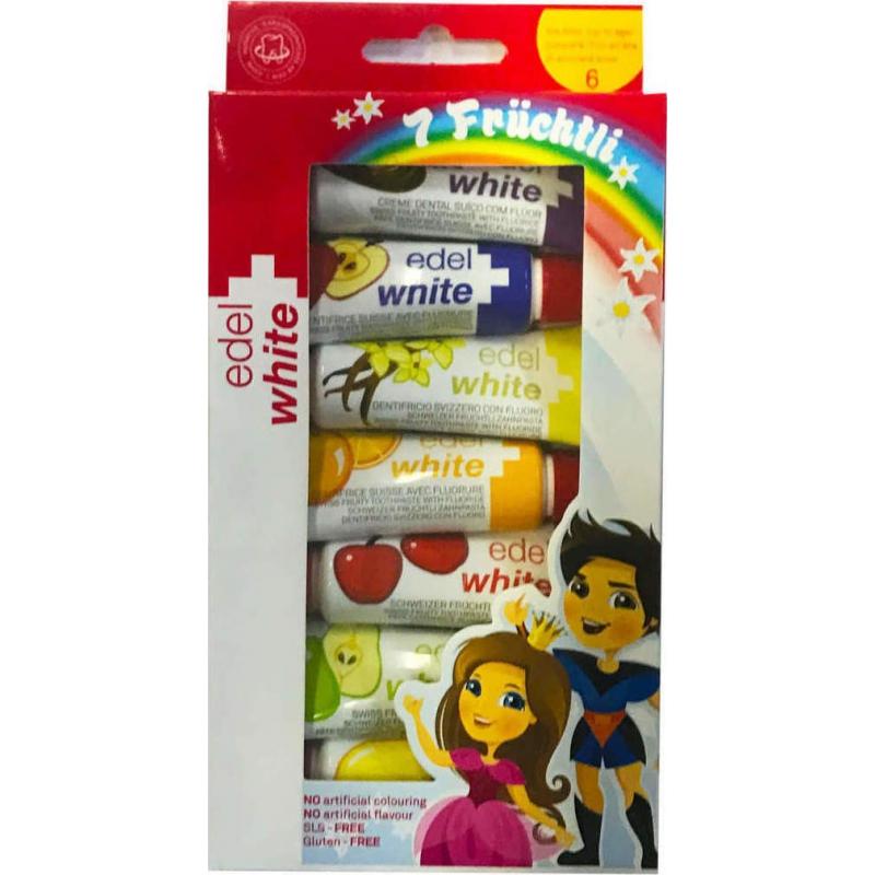 Edel White Παιδική Οδοντόκρεμα 7 Γεύσεις Φρούτων 45ml