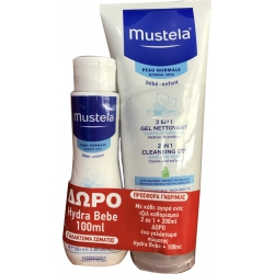 Mustela Cleansing Gel 2 in 1 200ml & Hydra Bebe Lait 100ml