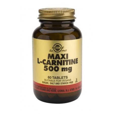 Solgar L-Carnitine 500mg 60 ταμπλέτες