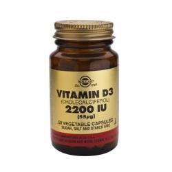 Solgar Vitamin D-3 2200 IU veg. caps 50 κάψουλες