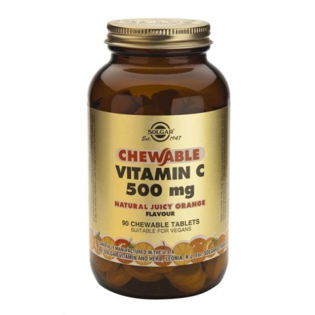 Solgar Vitamin C 500mg 90 μασώμενα δισκία ΠΟΡΤΟΚΑΛΙ