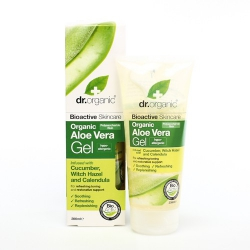 Dr. Organic Aloe Vera Gel with Cucumber, Witch Hazel & Calendula 200ml
