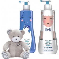 Mustela Limited Box: Cleansing Gel 500ml & Hydra Bebe Lotion 500ml με Δώρο Αρκουδάκι