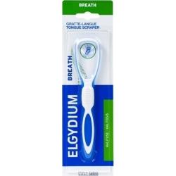Elgydium Breath Tongue Scraper Ξύστρα Γλώσσας Μπλε 1 Τμχ