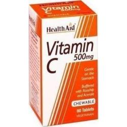 Health Aid Vitamin C 500mg Chewable 60 μασώμενες ταμπλέτες