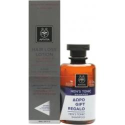 Apivita Λοσιόν Κατά της Τριχόπτωσης με Hippophae TC & Πρωτεΐνες Λούπινου 150ml & Δώρο Τονωτικό Σαμπουάν για Άνδρες
