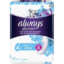 Always Discreet Discreet for Sensitive Bladder Long 10τμχ