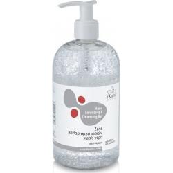 Zarbis Camoil Johnz Ζελέ καθαρισμού χεριών χωρίς νερό με πανθενόλη και αλόη, χωρίς άρωμα 500ml