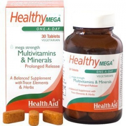 Health Aid Healthy Mega Multivitamins and Minerals 30 ταμπλέτες