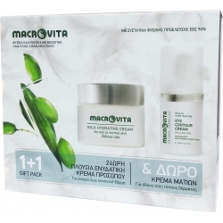 Macrovita Πακέτο Προσφοράς Rich Hydrating Cream for Oily / Normal Skin 40ml & Δώρο Eye Contour Cream 15ml