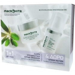 Macrovita Πακέτο Προσφοράς Super Nourishing Cream for Dry / Dehydrated Skin 40ml & Δώρο Eye Contour Cream 15ml