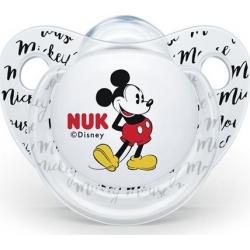 Nuk Disney Mickey Σιλικόνης White 6-18m 1τμχ