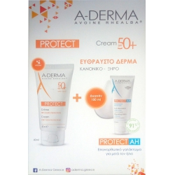 A-Derma PROMOPACK Protect Cream SPF50+ 40ml & ΔΩΡΟ Protect AH After Sun Lotion 100ml
