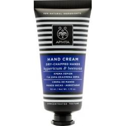 Apivita Hand Cream Dry Chapped Hands Hypericum & Beeswax 50ml