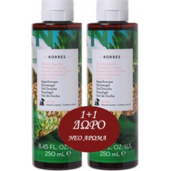 Korres Showergel Pineapple Coconut 2x250ml