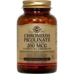 Solgar Chromium Picolinate 200mcg 90 φυτικές κάψουλες