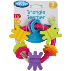Playgro Triangle Teether Pink 1τμχ