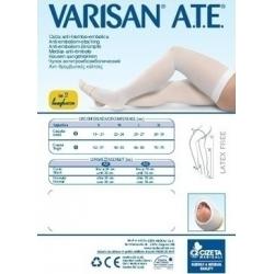 Varisan Varisan A.T.E. 18mmHg Αντιθρομβωτικές Κάλτσες Ριζομηρίου (λευκό)