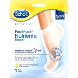 Scholl PediMask Nutriente Nourish Ενυδατική Μάσκα Ποδιού με Λάδι Macadamia 2τμχ