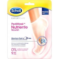 Scholl PediMask Nutriente Nourish 0% Ενυδατική Μάσκα Ποδιού Χωρίς Άρωμα 1 Ζεύγος