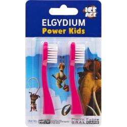 Elgydium Power Kids Ice Age Refill Pink Ανταλλακτικά Κεφαλής