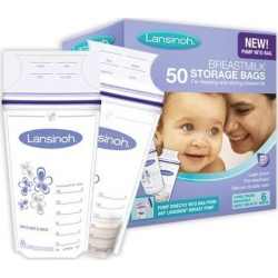 Lansinoh Σακουλάκια Αποθήκευσης Μητρικού Γάλακτος 180ml, 50 τμχ