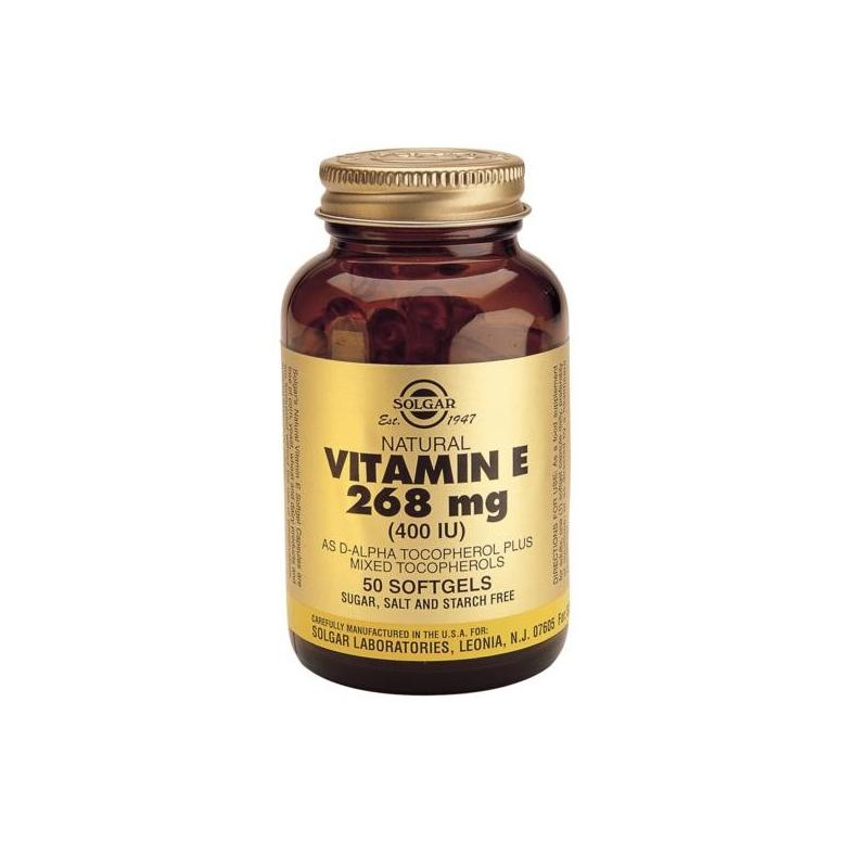 Solgar Vitamin E 400iu 268mg 50 κάψουλες