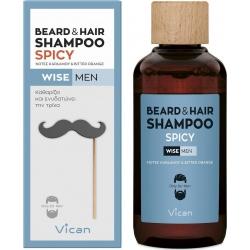 Vican Wise Men Beard & Hair Shampoo Spicy 200ml