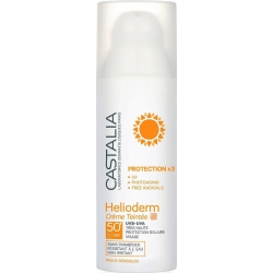 Castalia Protection Χ3 Helioderm Creme Teintee Normal/Dry Skin SPF50 50ml