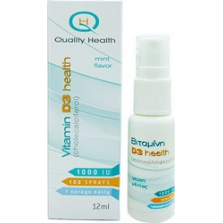 Quality Health Vitamin D3 Health 1000iu 12ml Μέντα