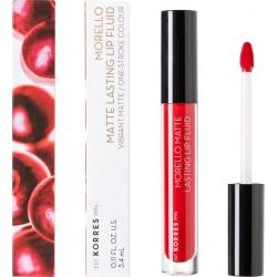 Korres Morello Matte Lasting Lip Fluid 53 Red Velvet