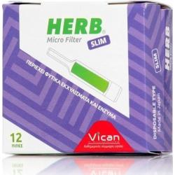 Vican Herb Microfilter 12 Πίπες για Slim Τσιγάρο