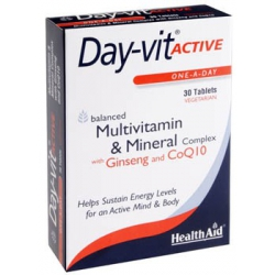 Health Aid Day-Vit Active Co Q10 30 ταμπλέτες