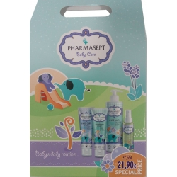 Pharmasept Baby Care Mild Bath 500ml & Baby Extra Calm Cream 150ml & Baby Natural Oil 100ml & Baby Soothing Cream 150ml